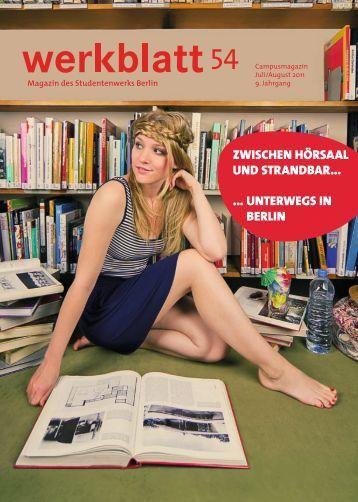 Zwischen hörsaal und strandbar… - Studentenwerk Berlin