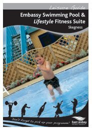 Embassy Swimming Pool & Lifestyle Fitness Suite - East Lindsey ...