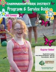 Program & Service Guide - the Channahon Park District!