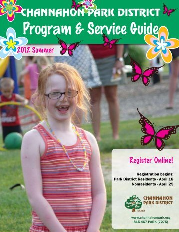 Program & Service Guide - the Channahon Park District!