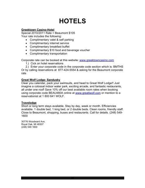HOTELS Greektown Casino-H