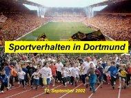 Sportverhalten in Dortmund - Metropole Ruhr