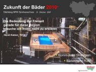 Zukunft der Bäder 2010+ - Metropole Ruhr