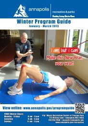 Winter Program Guide - City of Annapolis