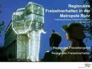 Regionales Freizeitverhalten in der Metropole Ruhr