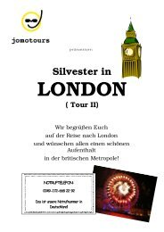 Silvester in London, Tour I