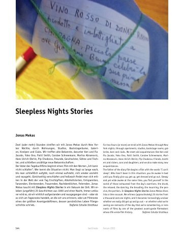 Sleepless Nights Stories - Berlinale