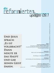 """upd@te 09.1 Und Jesus sprach: """"Es ist vollbracht!"""" - reformiert-info.de"""