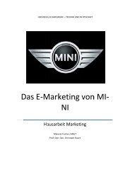 M. Fischer, Das E-Marketing von MINI