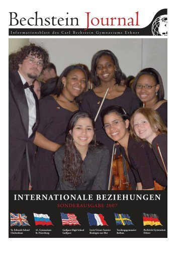 INTERNATIONALE BEZIEHUNGEN - Carl Bechstein Gymnasium