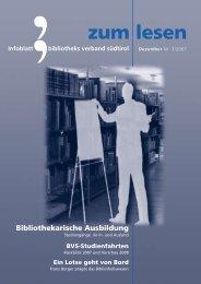 Infoblatt bibliotheks verband südtirol