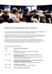Regionalforum Arbeitsmedizin 2010 in Hannover - Verband ...