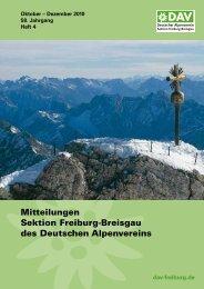 Mitteilungen Sektion Freiburg-Breisgau des Deutschen Alpenvereins