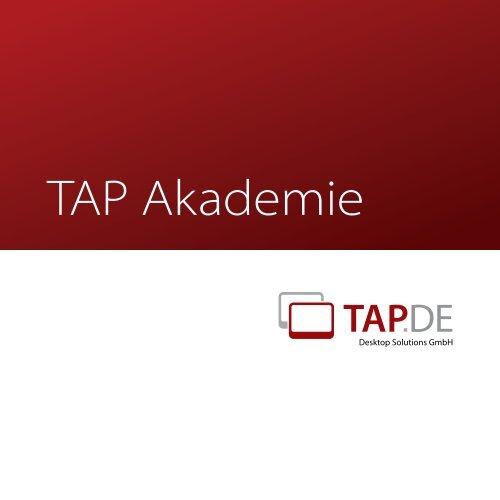 Unsere Seminare umfassen die Bereiche - TAP.DE Desktop ...