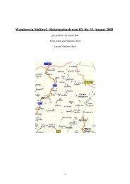 Wandern in Südtirol - Reisetagebuch vom 3