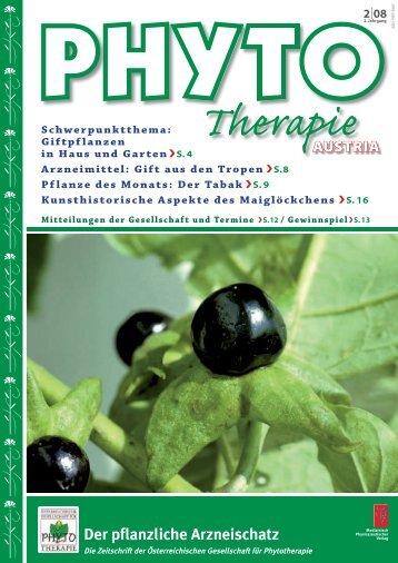 Der pflanzliche Arzneischatz Schwerpunktthema - phytotherapie.co.at