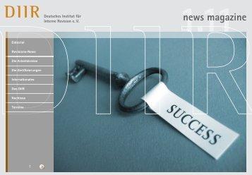 News Magazine 1/11 - Deutsches Institut für Interne Revision e.V.