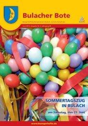 Bürgerverein Bulach - KA-News