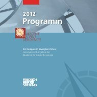 Programm 2012 - Akademie für Soziale Demokratie