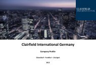 Clairfield International Germany - Financial Career