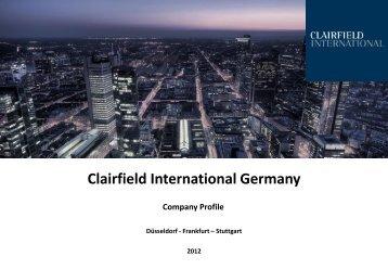 Clairfield International Germany - Financial Career