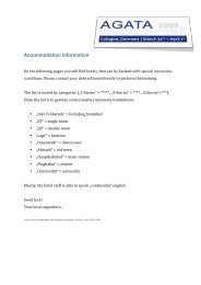 Accommodation information - Universität zu Köln
