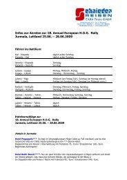 Infos zur Anreise zur 18. Annual European H.O.G. Rally Jurmala ...