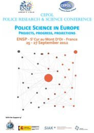 Police Science in Europe Projects, progress, projections ENSP - St ...