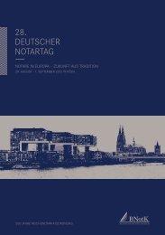 500 Jahre reichsnotariatsordnung - 28. Deutscher Notartag