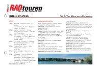 rhein-radweg - Radtouren Magazin