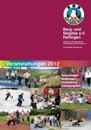 Veranstaltungen 2012 Berg - Berg- und Skigilde e.V. Hattingen