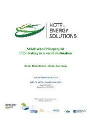Bonn, Germany TEILNEHMENDE HOTELS LIST OF ... - Bonn Region