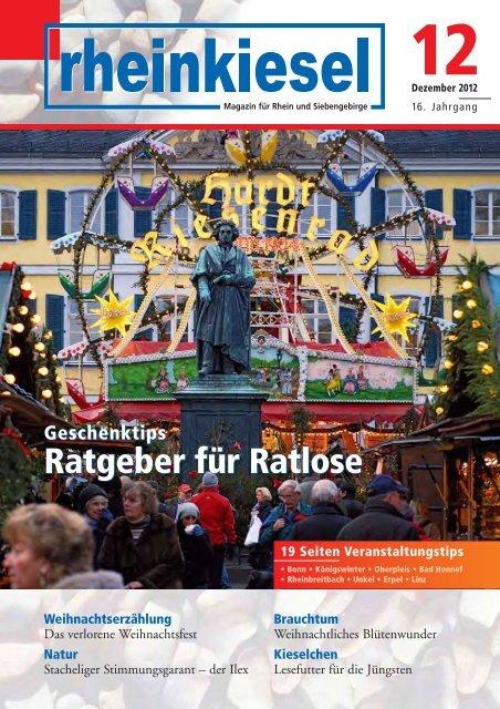 Ratgeber für Ratlose Ratgeber für Ratlose - Rheinkiesel