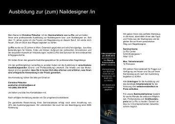 Ausbildung zur (zum) Naildesigner /in - La Ric Kosmetik GmbH