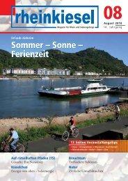 Sonne - Rheinkiesel