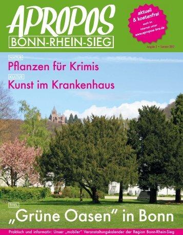 """Grüne Oasen"" in Bonn - Apropos Bonn-Rhein-Sieg"