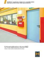 Universaliosios durys MZ - Hormann.lt