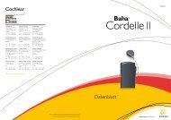 Datenblatt Cordelle II - Cochlear Baha