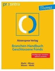 Branchen-Handbuch Geschlossene Fonds - procontra online