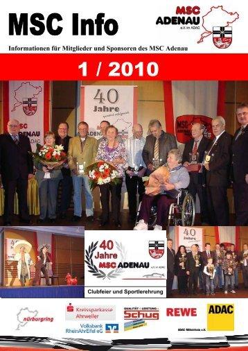 Informationen für Mitglieder und Sponsoren des MSC Adenau