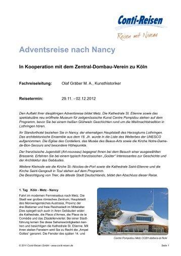 Adventsreise nach Nancy - Conti-Reisen Reisefinder