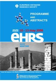 programme abstracts - The European Histamine Research Society