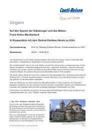 Ungarn Auf den Spuren der Habsburger und des Malers Franz ...