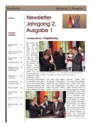 Newsletter Jahrgang 2, Ausgabe 1 - DNG-Koeln