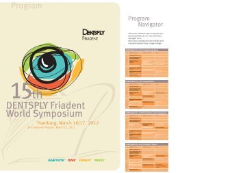 Final Program – DENTSPLY Friadent World Symposium 2012 (PDF