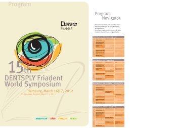 Final Program – DENTSPLY Friadent World Symposium 2012 (PDF