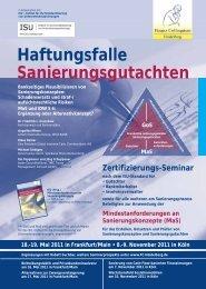 Haftungsfalle Sanierungsgutachten - Finanz Colloquium Heidelberg
