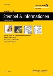 Ausgabe 10 - 2012 | 11. Mai 2012 - Deutsche Post - Philatelie