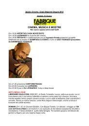 CINEMA, MUSICA E MOSTRE - 900Lab