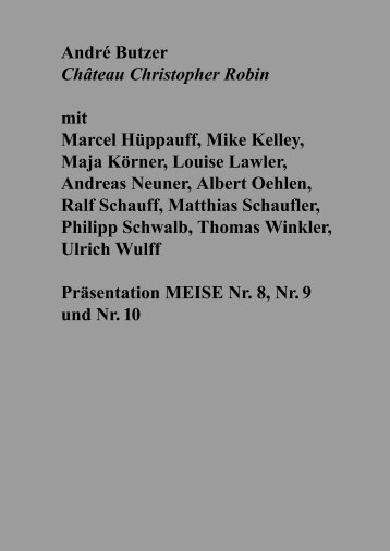 Download exhibition booklet (1,3 MB) - Galerie Hammelehle und ...
